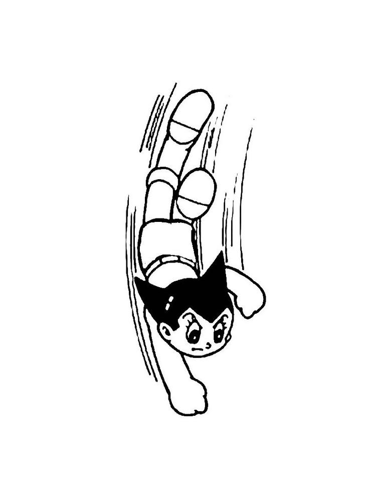 Boy Coloring Pages Astro Boy