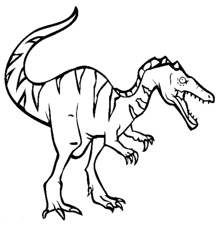 Boy Coloring Pages Dinosaur