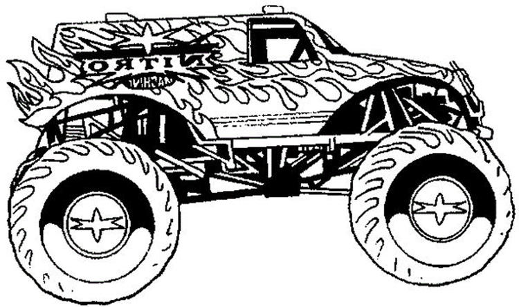 Boy Coloring Pages Monster Truck