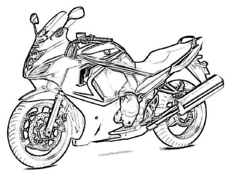 Boy Coloring Pages Motorcycle