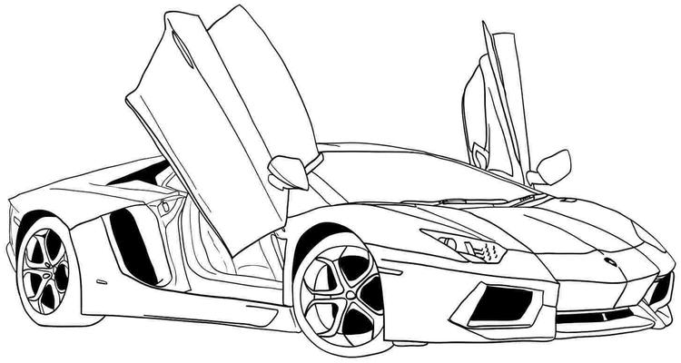 Boy Coloring Pages Of Cool Car