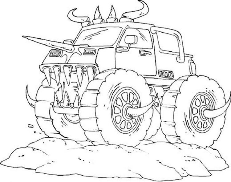 Boy Coloring Pages Of Monster Truck