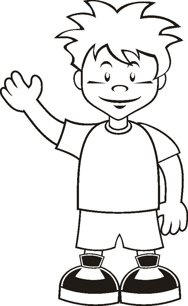 Boy Coloring Pages Printable
