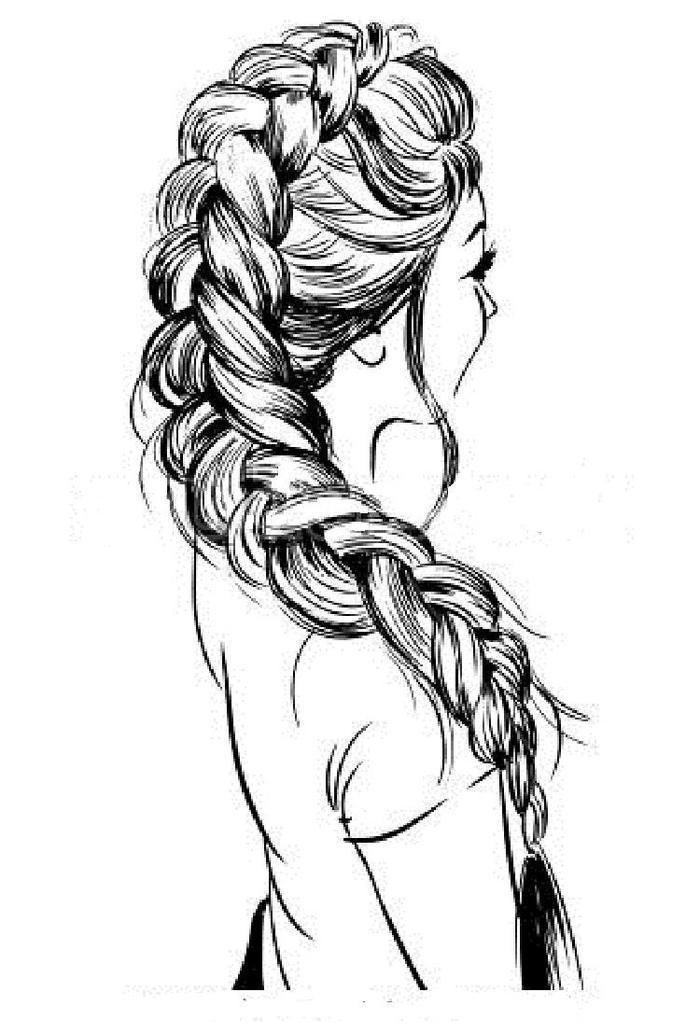 Braided Hair Coloring Pages