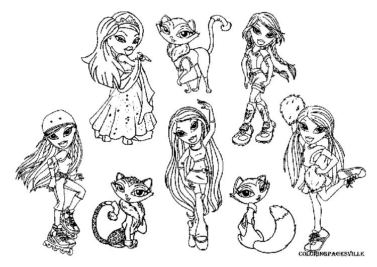 Bratz Coloring Pages For Free