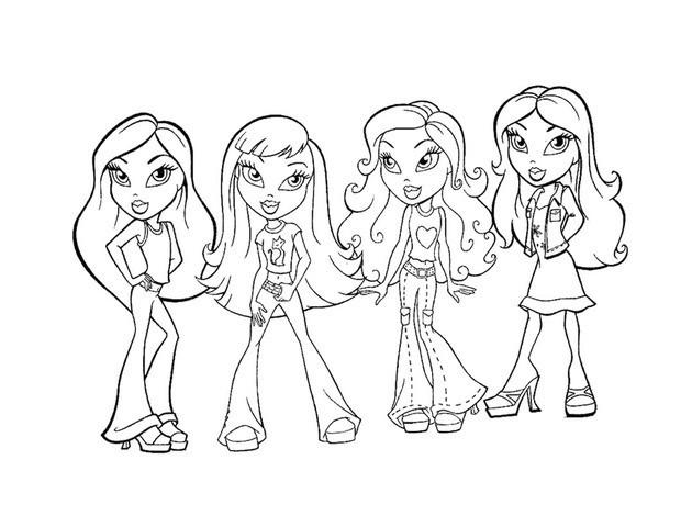 Bratz Coloring Pages Free