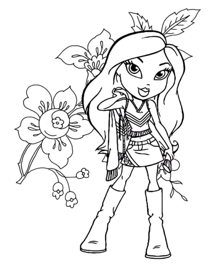 Bratz Coloring Pages Printable For Girls