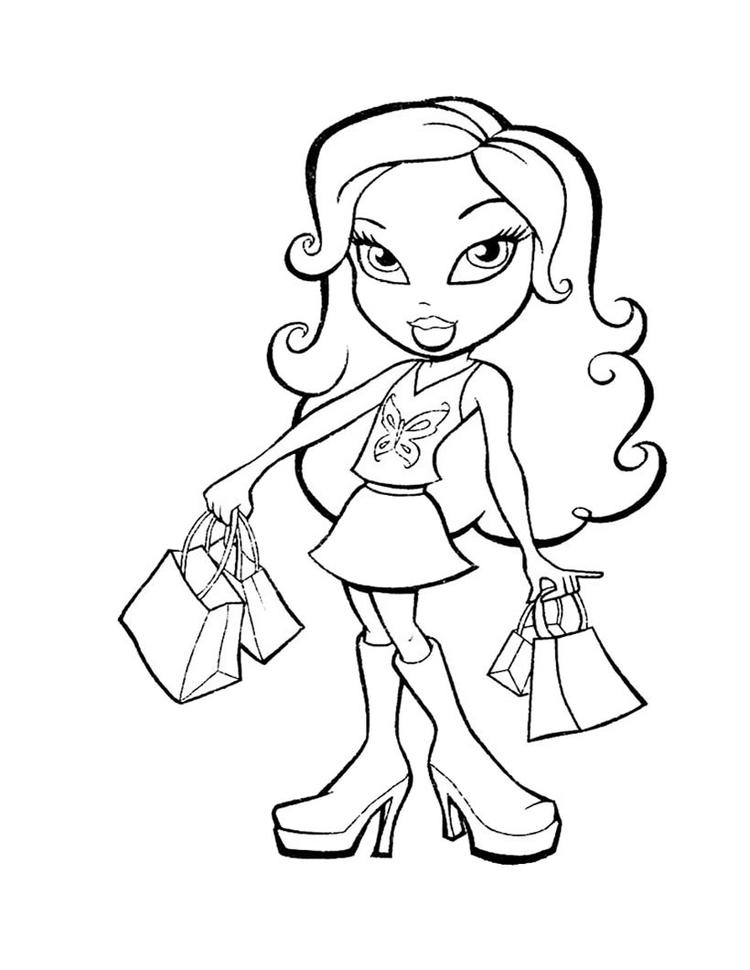 Bratz Coloring Pages Yasmin