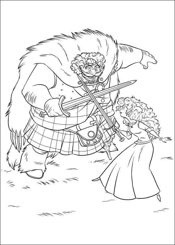 Brave Coloring Pages King Fergus And Merida