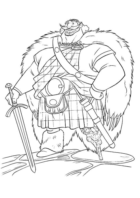 Brave Coloring Pages King Fergus