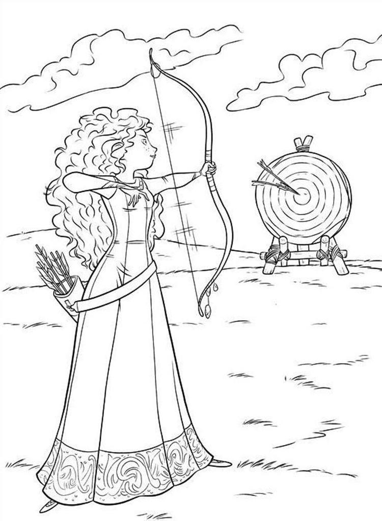 Brave Coloring Pages Merida