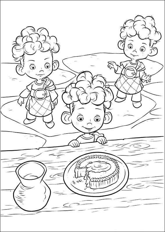 Brave Coloring Pages Meridas Brothers