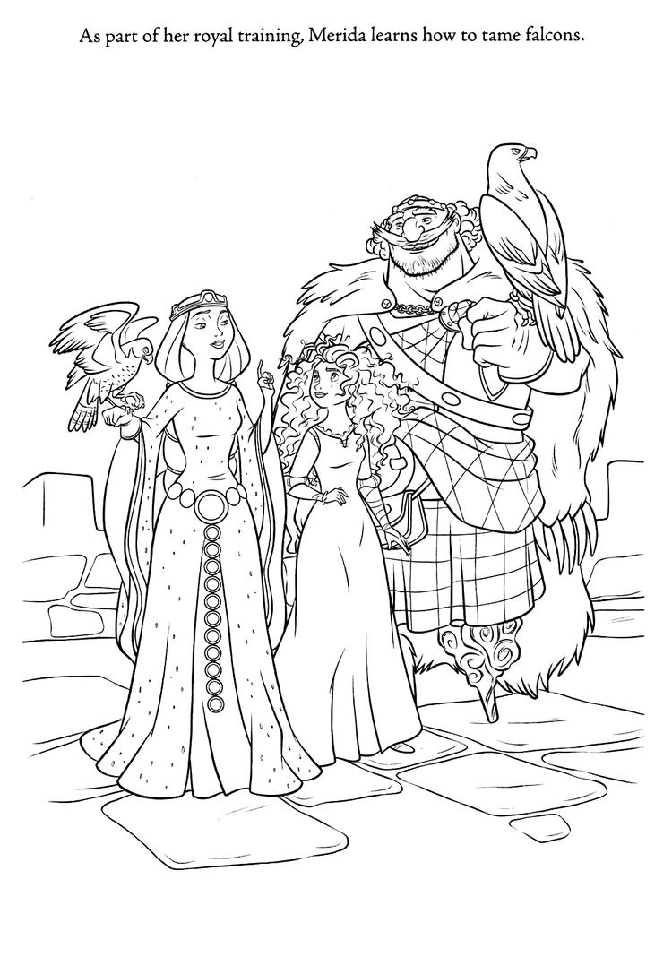 Brave Coloring Pages Meridas Family