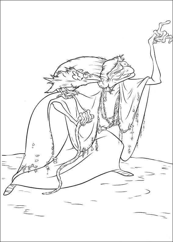 Brave Coloring Pages The Witch