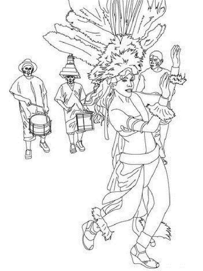 Brazil Carnival Coloring Pages