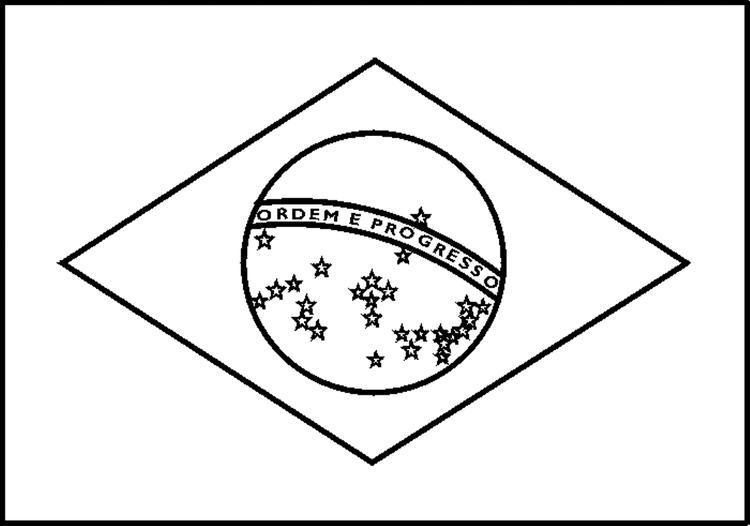 Brazil Flag Coloring Pages For Kids