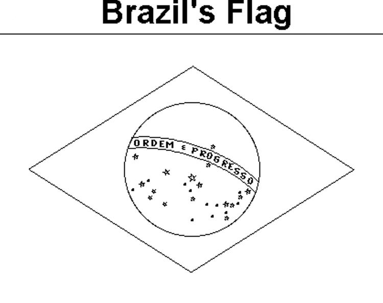 Brazils flag coloring pages 1