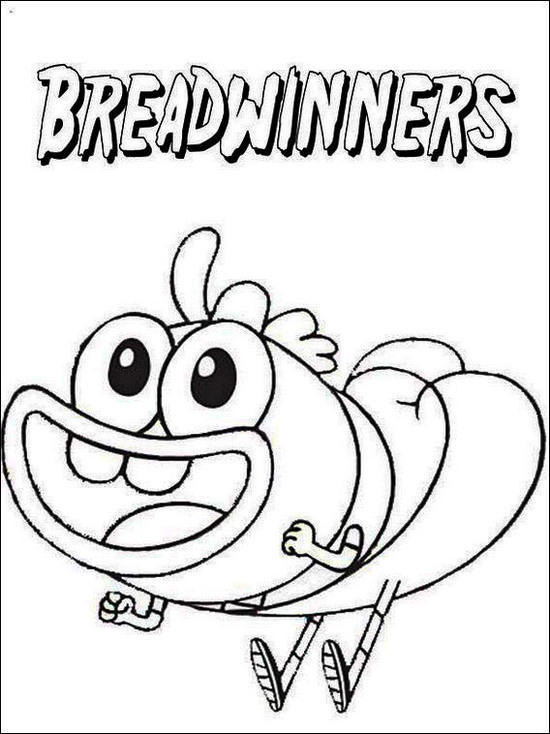 Breadwinners Games Coloring Page