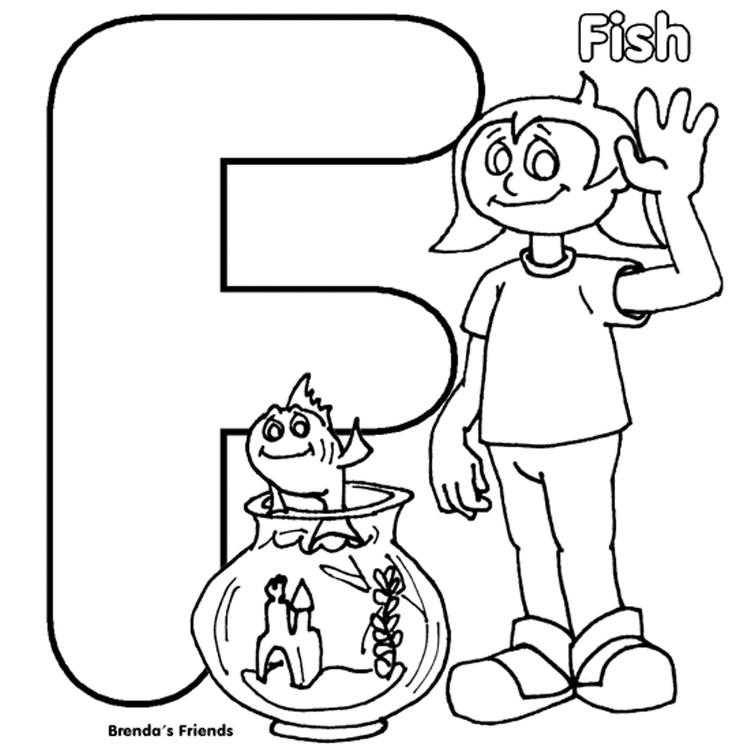 Brendas Friend Is Fish Alphabet Coloring Pages Free