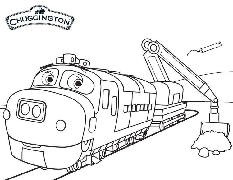 Brewster From Chuggington Coloring Sheet