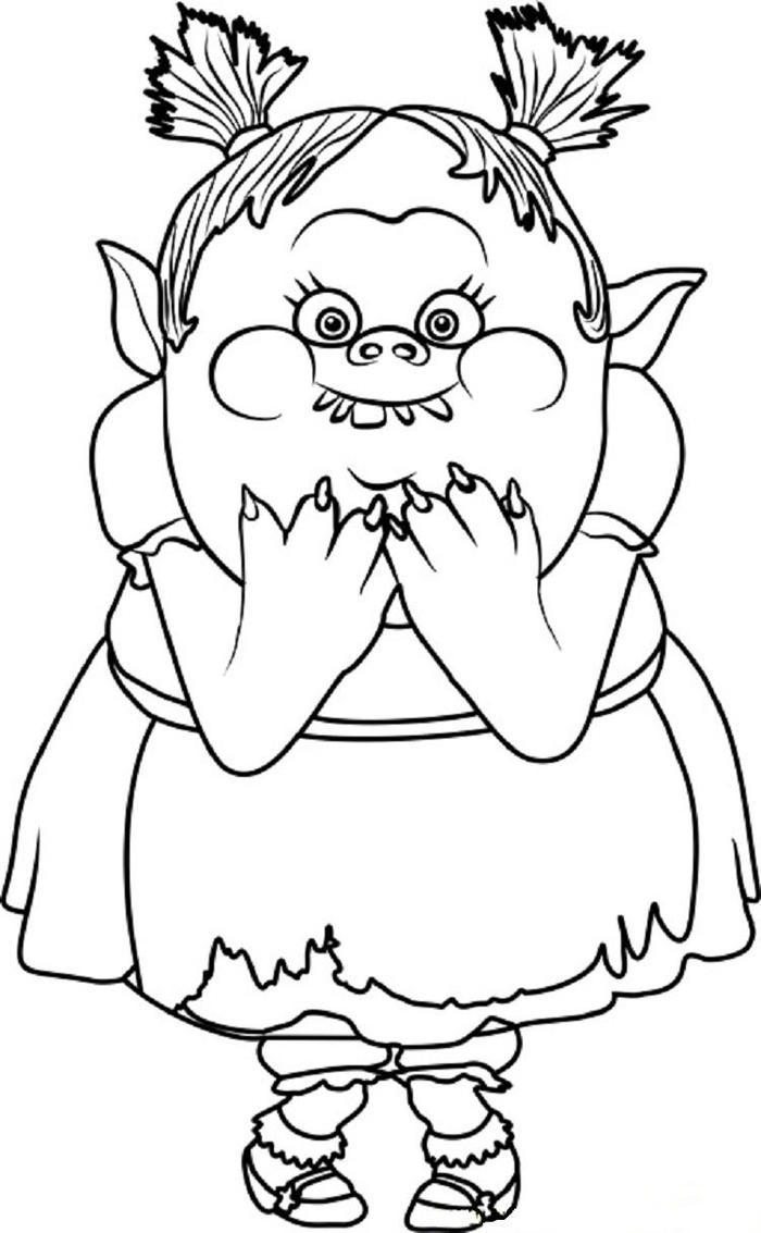 Bridget From Trolls Coloring Pages