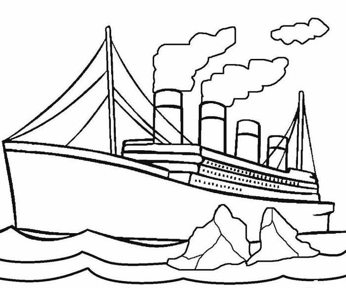 Brittanic Ship Coloring Pages
