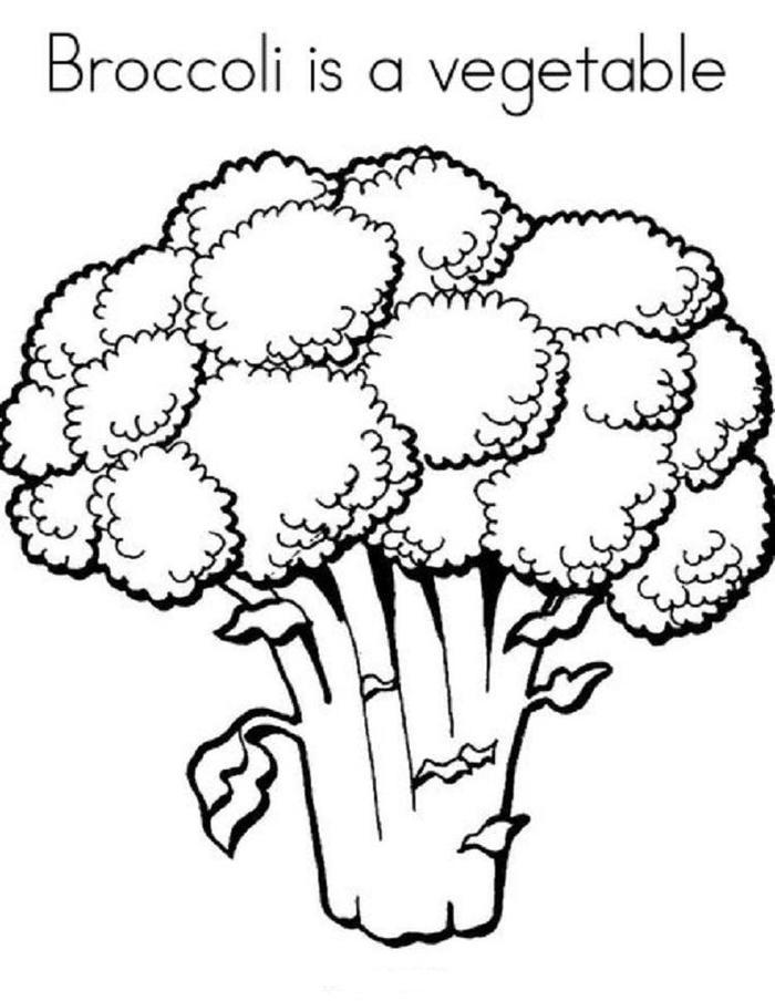 Broccoli Vegetables Coloring Pages