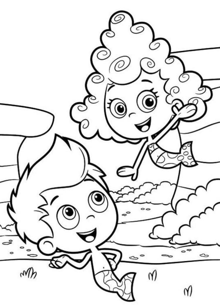 Bubble Guppies Coloring Pages Deema And Gil