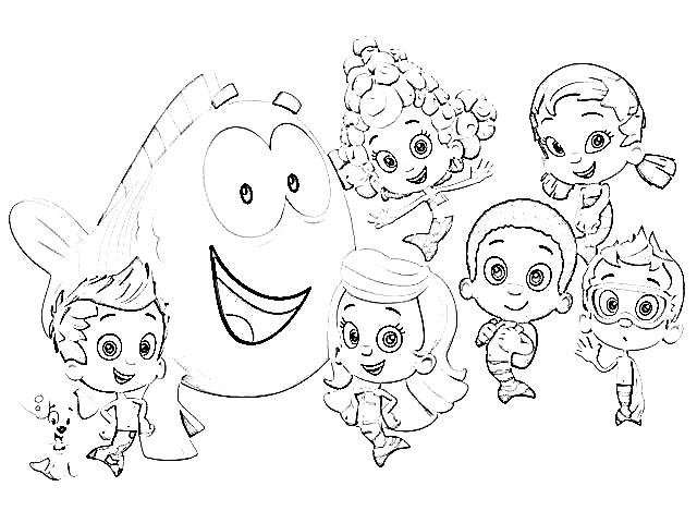 Bubble Guppies Coloring Pages For Printable