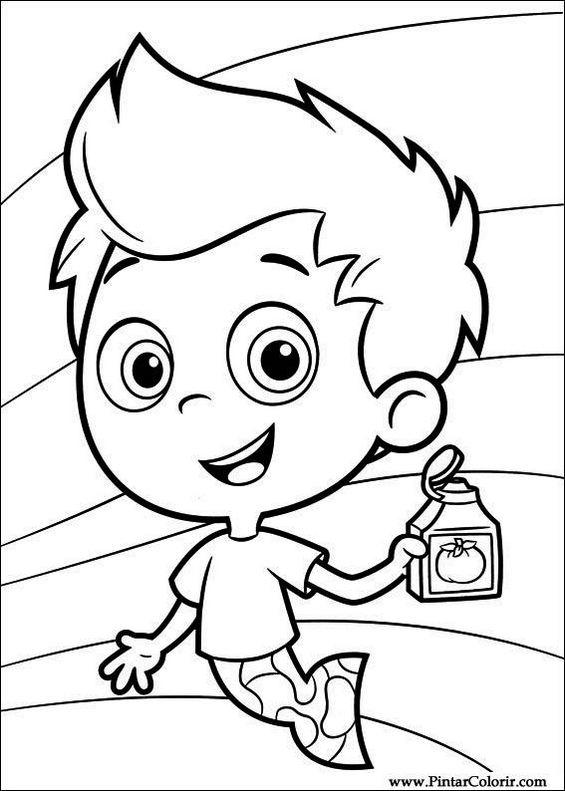 Bubble guppies nickelodeon coloring pages to print and drawing