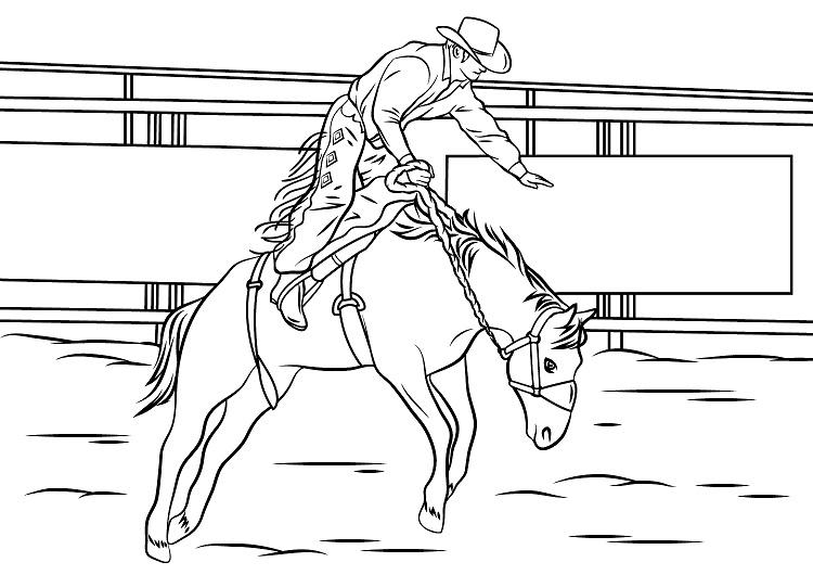 Bucking Horse Coloring Pages