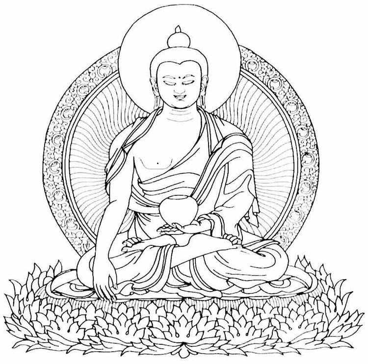 Buddhism Coloring Pages