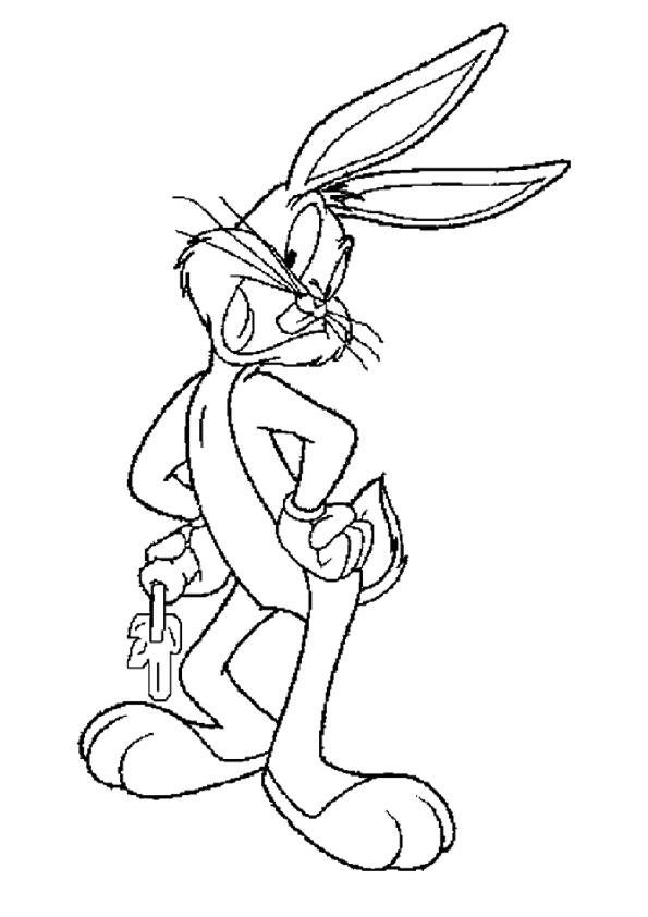 Bugs Bunny Coloring Pages With Carrot