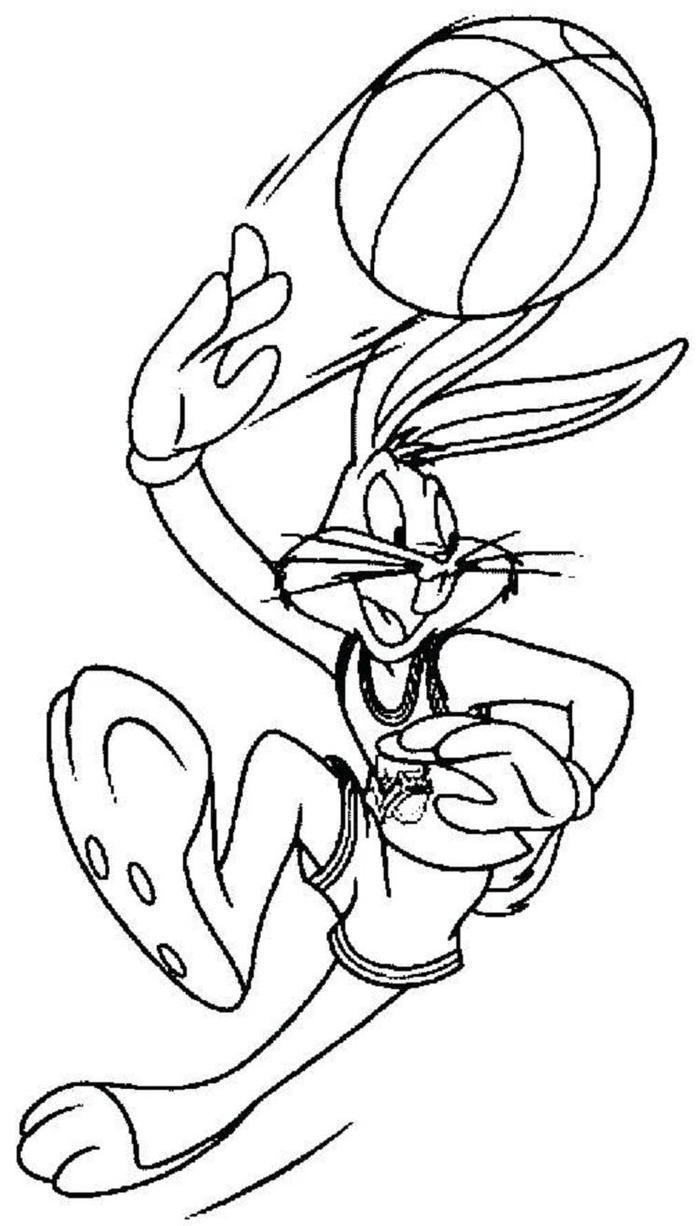 Bugs Bunny Space Jam Coloring Pages