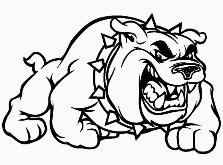 Bulldog Coloring Pages To Print Out