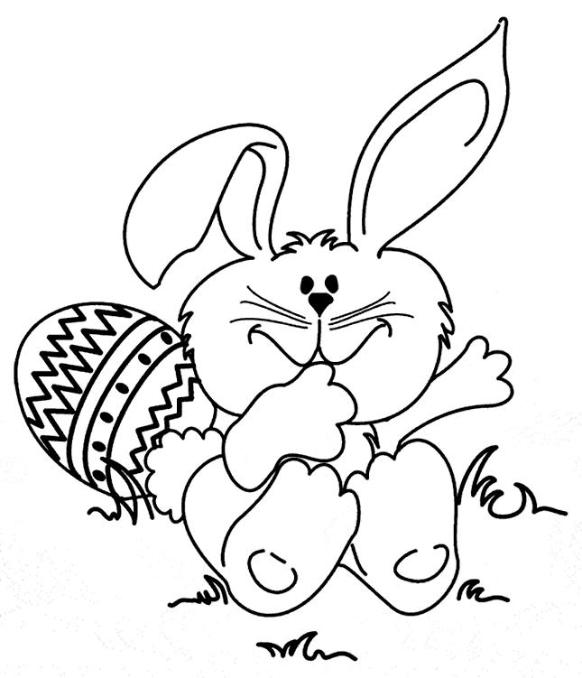 Bunny Coloring Pages Cute Easter Bunny