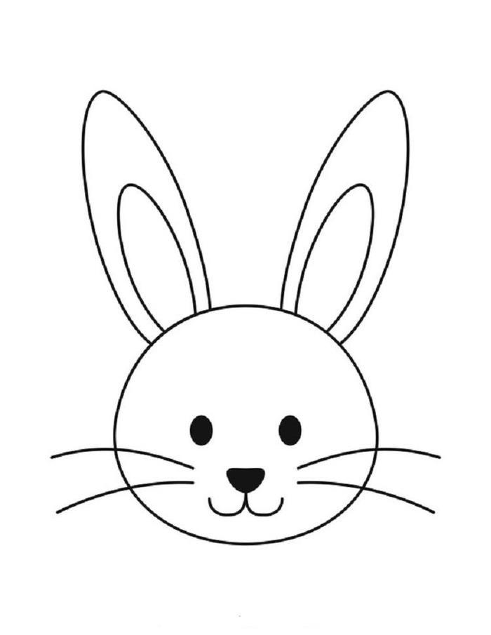 Bunny Face Coloring Pages