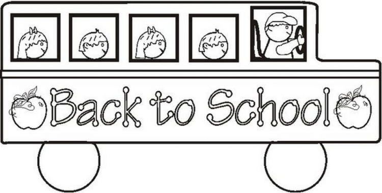 Bus Back To School Coloring Pages