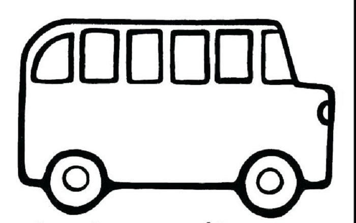 Bus Colorinng Pages For Toddlers