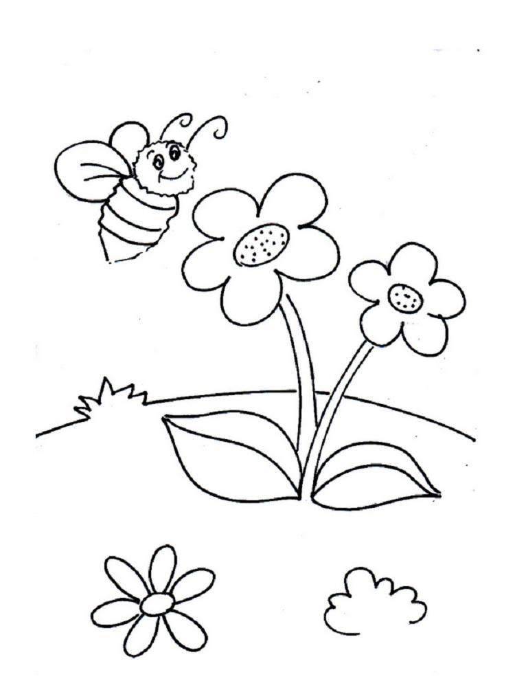 Busy Bee Coloring Pages