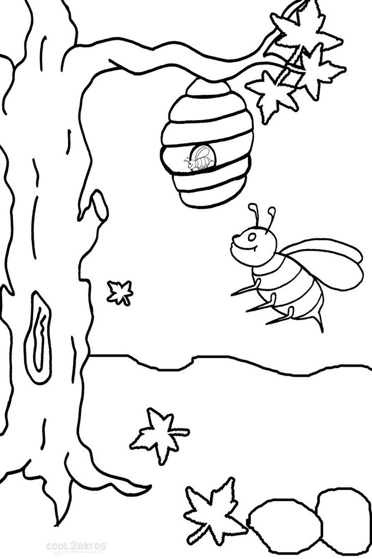 Busy Bee Print Out Drawing