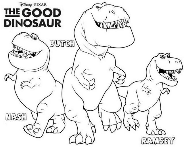 Butch nash and ramsey the good dinosaur coloring page