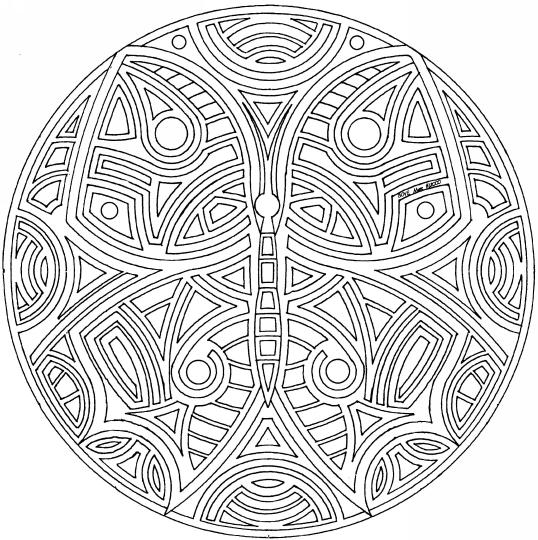Butterfly Adult Coloring Pages Mandala Printable