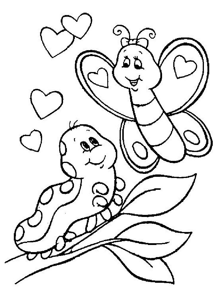 Butterfly Coloring Pages For Kindergarten