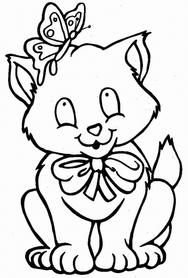 Butterfly Kitty Coloring Pages