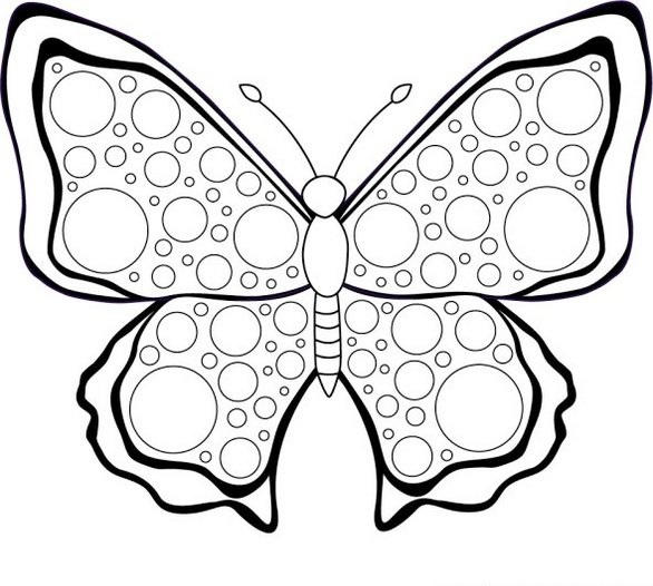 Butterfly Mosaic Coloring Page Printable