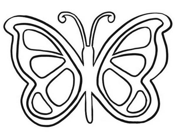Butterfly Mosaic Print Out Drawing