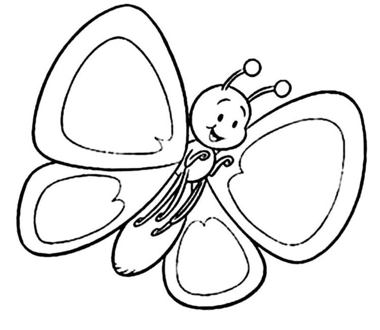 Butterfly Preschool Coloring Pages Spring