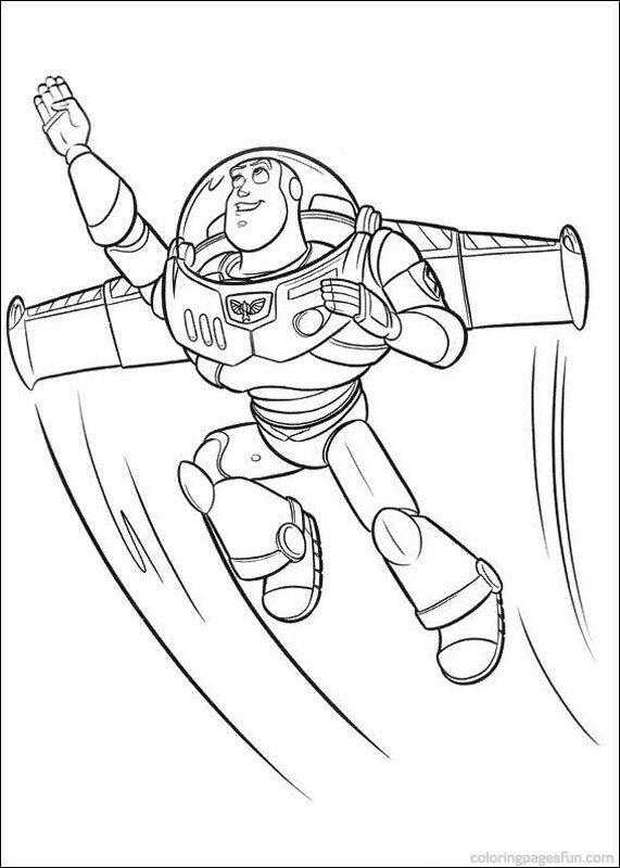 Buzz Coloring Pages Printable Toy Story Cartoon