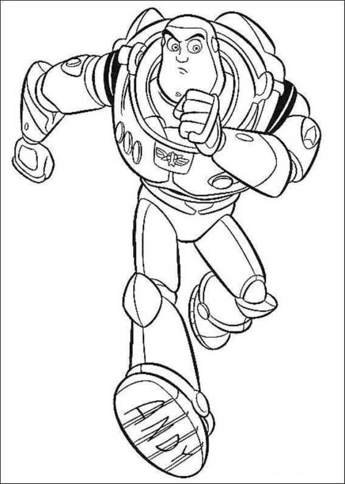 Buzz Is Running Toy Story Coloring Pages
